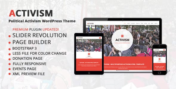 Petition WordPress theme